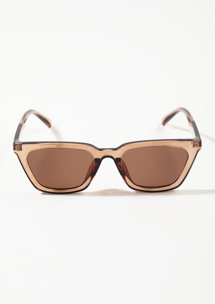 PLAYING COOL TEA BROWN FRAME WAYFARERS