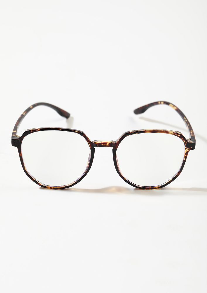 GEEKY FEELS ONLY AMBER CLEAR LENS AVIATORS