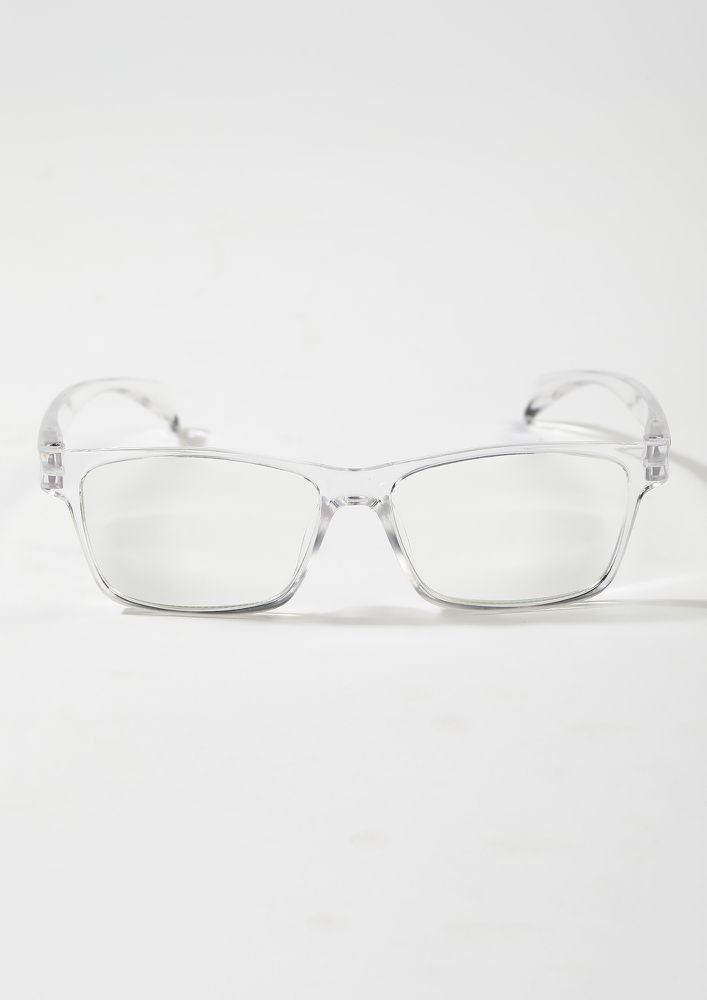 Geek And Chic White Square Sunglasses