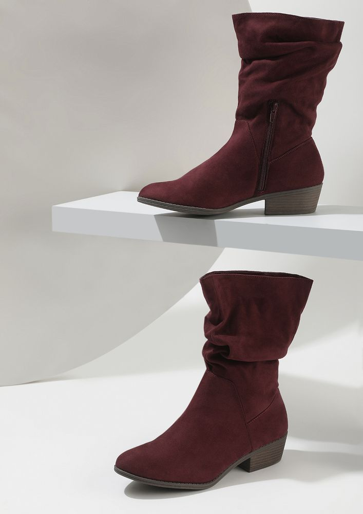 BACK IN THE SADDLE BURGUNDY BOOTS