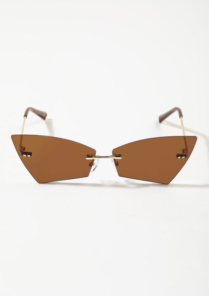 FROM THE FUTURE DARK TEA BROWN SUNGLASSES