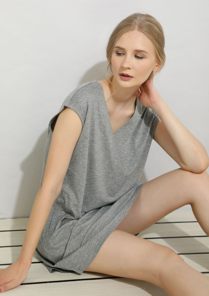 LONG LIVE THE TREND GREY DRESS