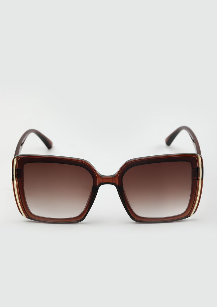 STARE THROUGH SUNSHINE TEA BROWN WAYFARERS