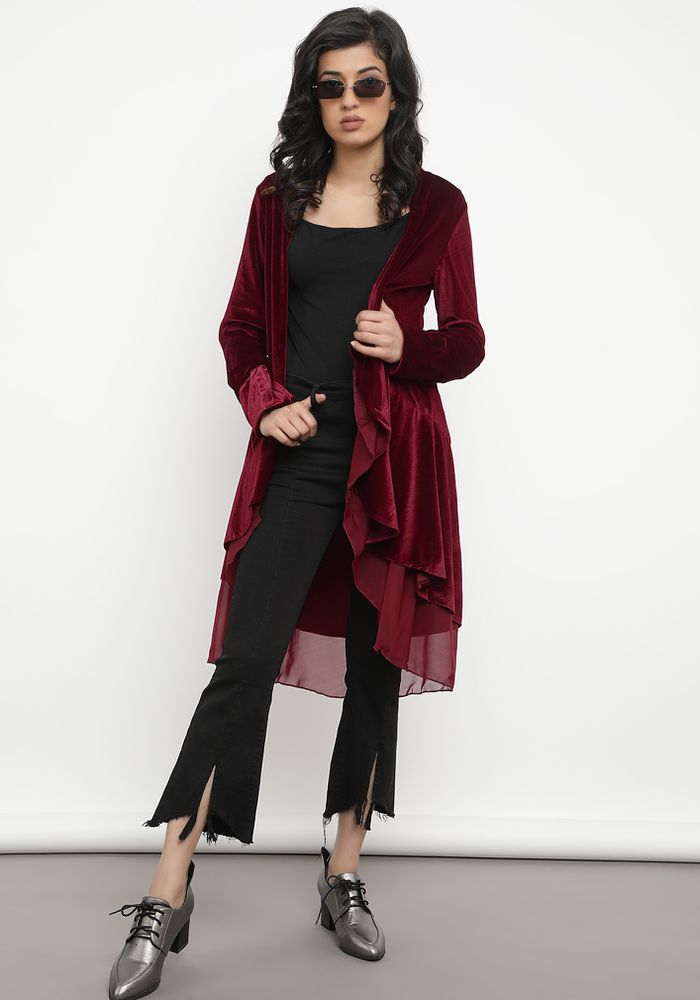 ROYAL FASHIONISTA BORDEAUX SHRUG
