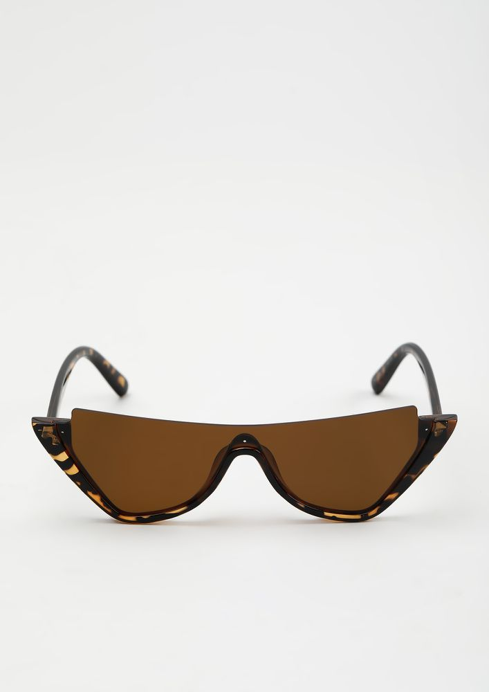 CALL 'EM SAVAGE AMBER BROWN SUNGLASSES