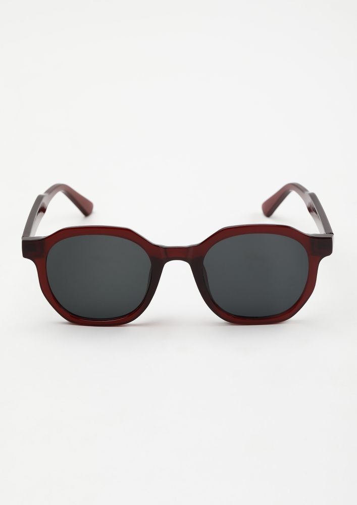 DREAMING OF A VACAY RED RETRO SUNGLASSES