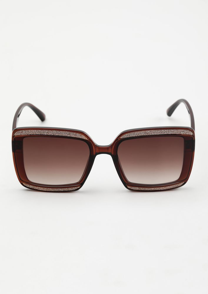 SHIMMER AND SHINE BROWN WAYFARERS