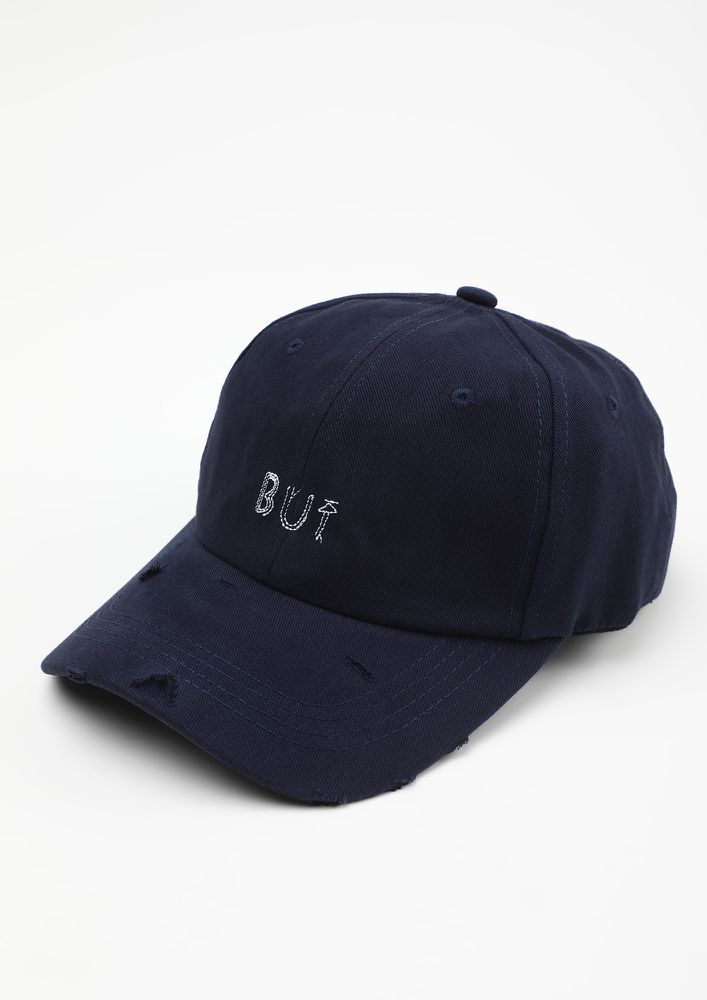NO IF ONLY BUT NAVY CAP