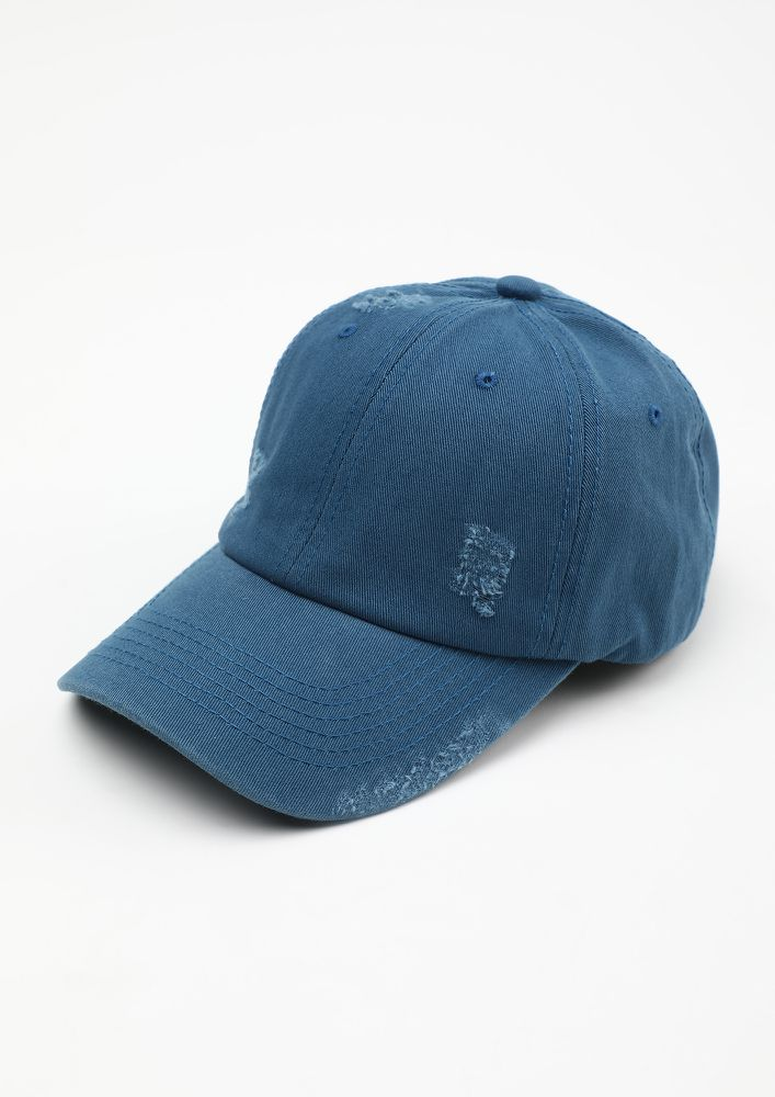 DISTRESSED YET COOL BLUE CAP