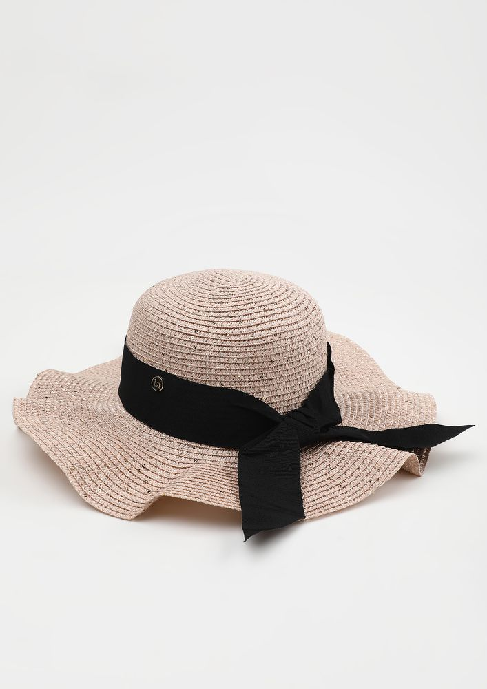 FOR SAND AND SUNSHINE  PINK FLOPPY HAT