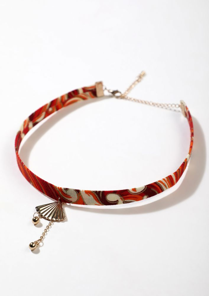 QUITE A HARD SHELL RED CHOKER