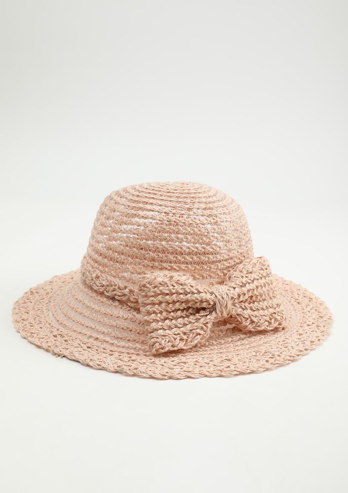 DIPPED IN SAND PINK STRAW HAT