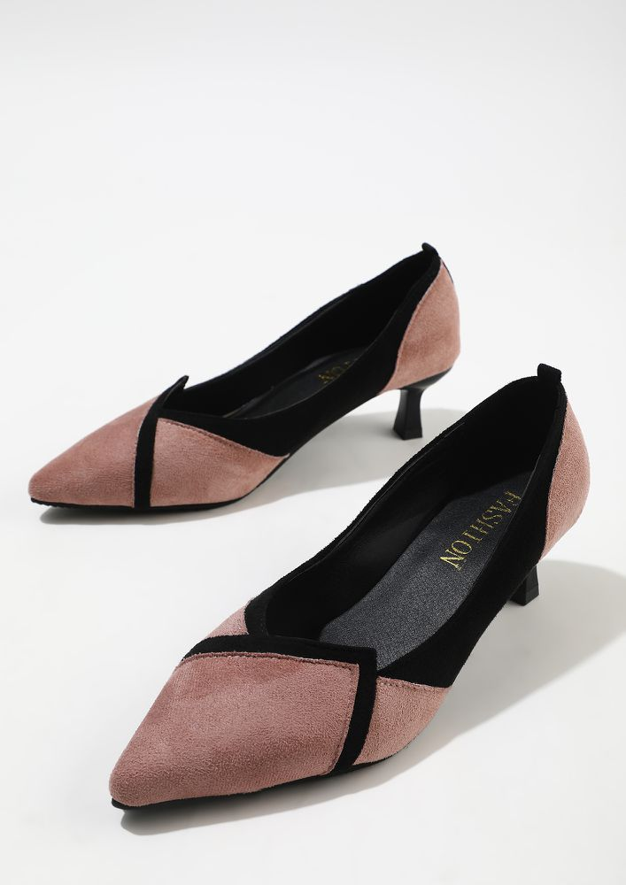 ALL THINGS CHIC PINK HEELED SHOES