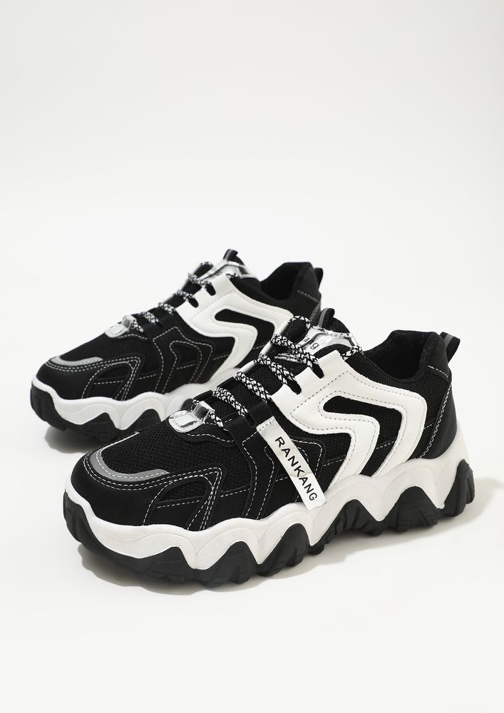 FIND MY PATH BLACK TRAINERS