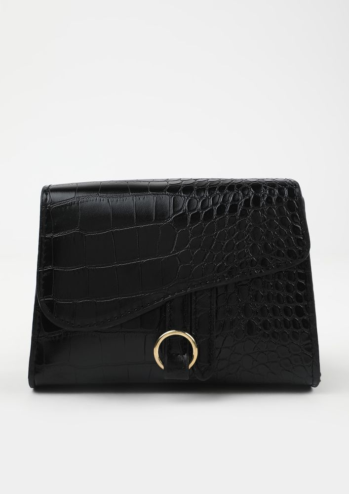 POSH AND SPICY BLACK SLING BAG