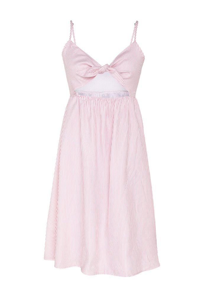 YOU'RE CUTE AND YOU SHOULD KNOW IT PINK SPAGHETTI DRESS
