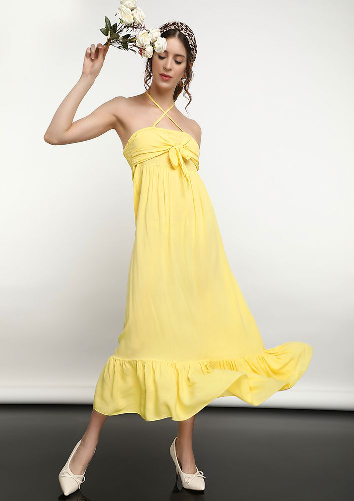 THEY CALL ME YELLOW MELLOW DRESS IN YELLOW
