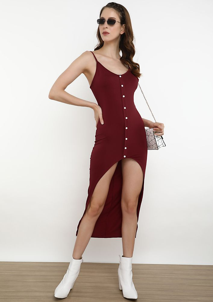 SLIP INTO THE SLINK DRESS IN RED