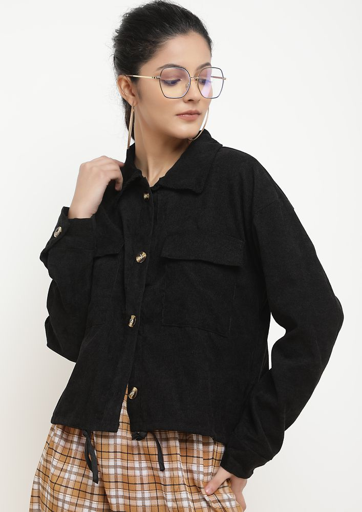 IN A COSY SPACE BLACK JACKET