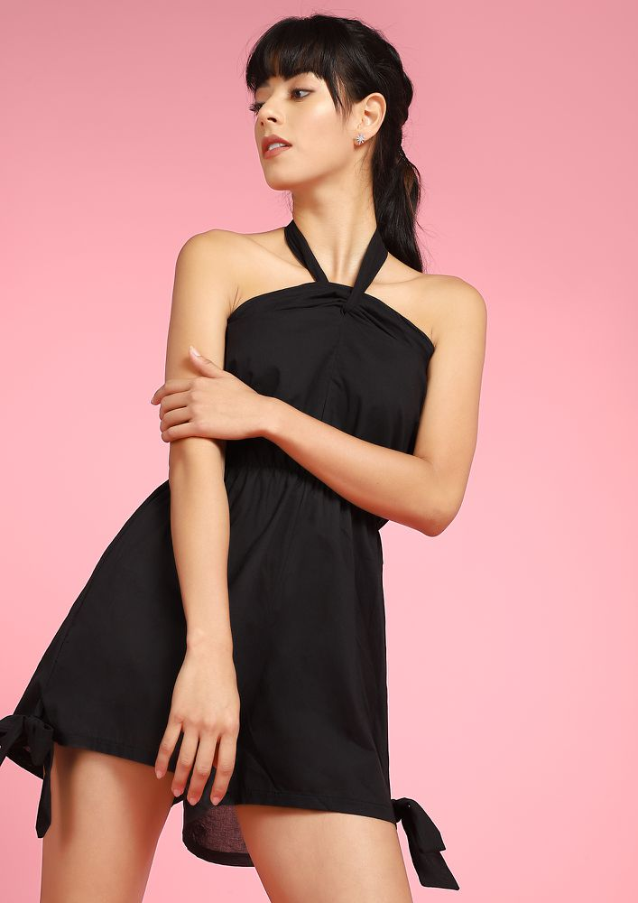 PRETTY IN BLACK ROMPER