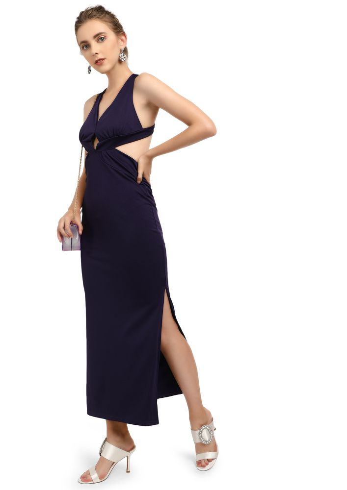 LIGHTS OUT PURPLE MAXI DRESS