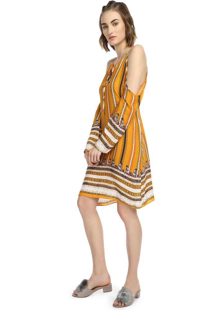 That Boho Feel Yellow Shift Dress