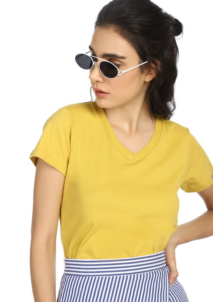 CASUAL STREET STYLE YELLOW T-SHIRT