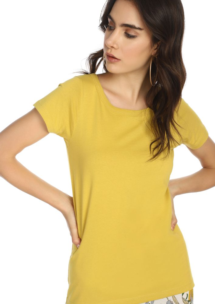 CASUAL STREET STYLE MUSTARD T-SHIRT