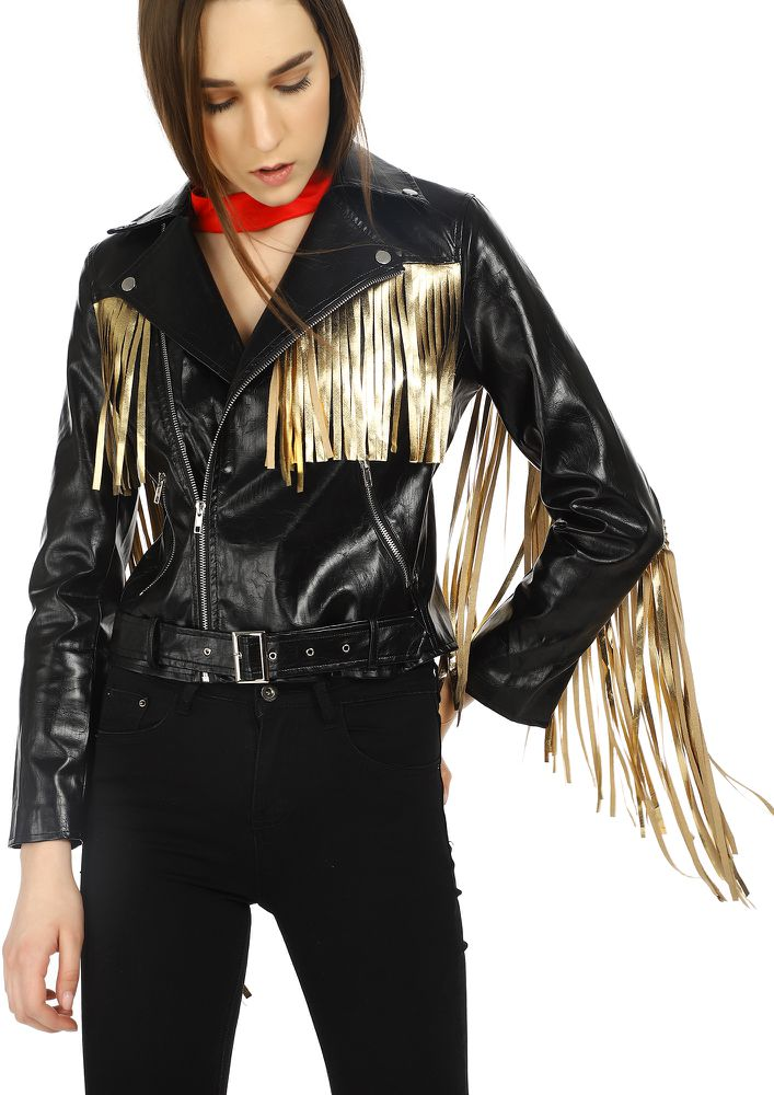GIVE ME WINGS TO FLY BLACK JACKET