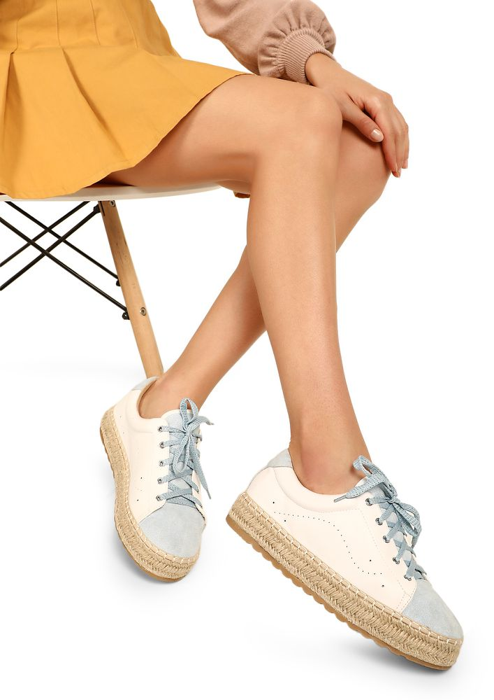 ICE-CREAMY BLUE CASUAL SHOES