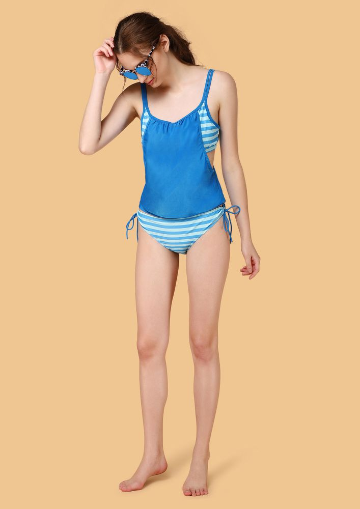 SUN IS SHINING BLUE BEACHWEAR SET