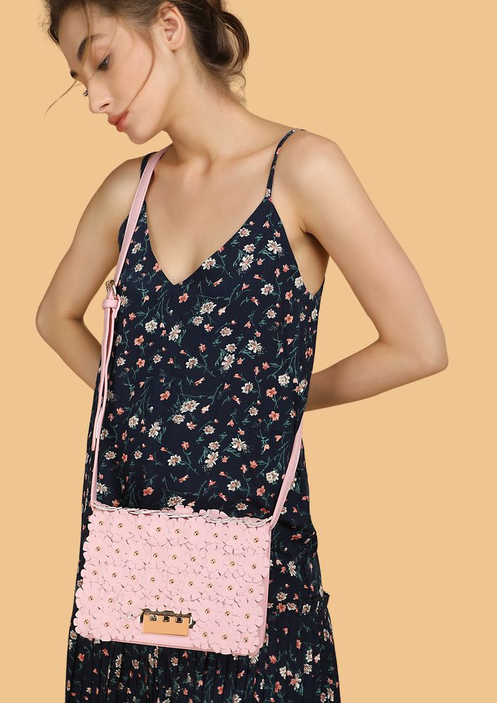 ALL PRETTY FLORALS ON ME PINK SLING