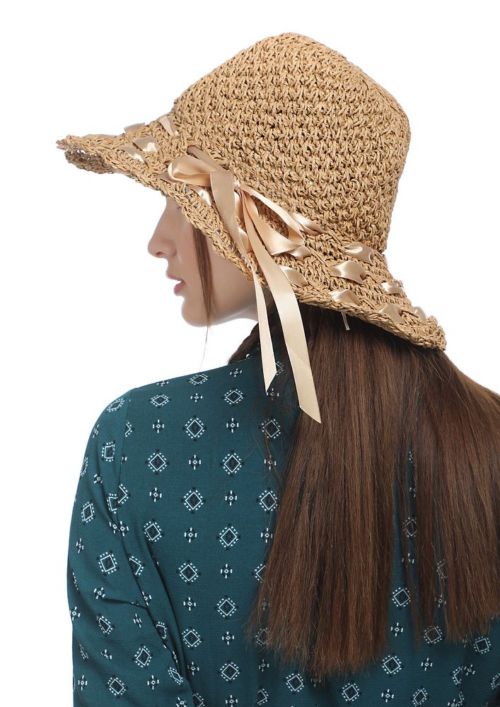 WEAVING MAGIC AROUND BROWN HAT