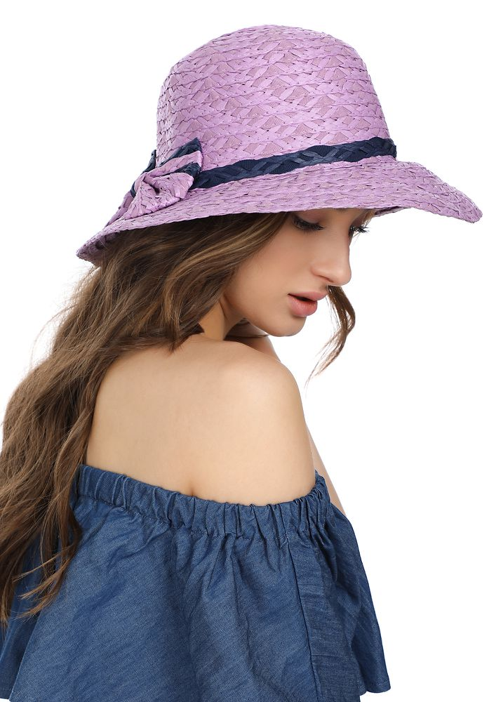 SOAKING ALL SUNSHINE WITH PURPLE HAT
