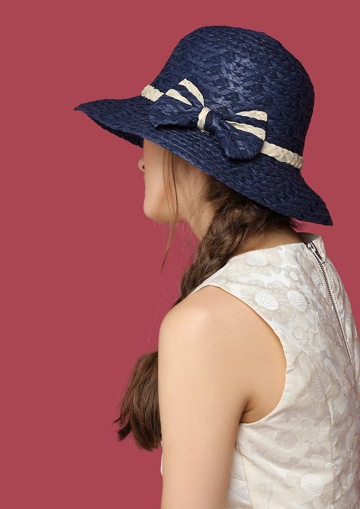 SOAKING ALL SUNSHINE WITH NAVY HAT