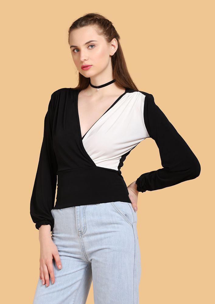 STRIKING THE RIGHT BALANCE IVORY BLACK TOP
