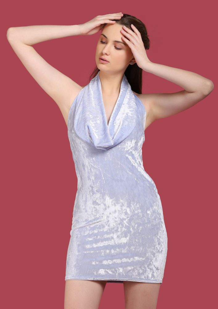 SWEET FINISH LIGHT BLUE BODYCON DRESS