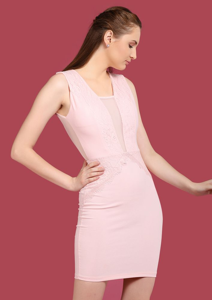 OH MY BABY PINK BODYCON DRESS