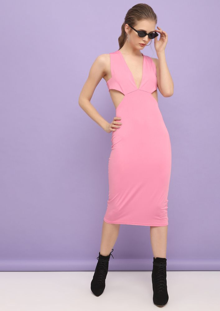 PRETTY PLEASE BABY PINK DRESS