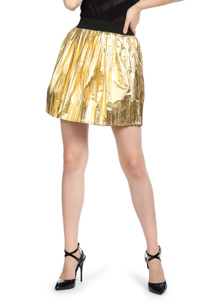 PARTY TIME GOLDEN SKATER SKIRT