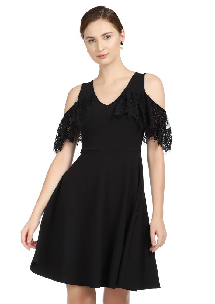 CAUSE YOU'RE A DARLING BLACK SKATER DRESS