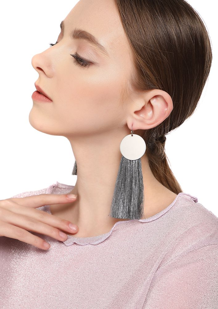 GOSS BABE SAY MY NAME GREY EARRINGS