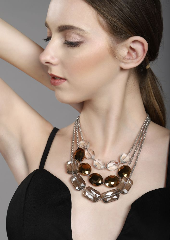 GOSS BABE ROMANCE IN THE DARK BROWN NECKLACE