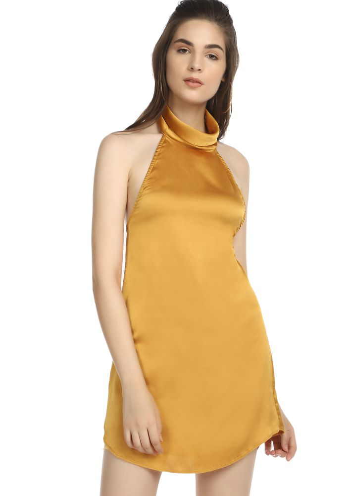 YOU'RE MEANT TO SHINE YELLOW TUNIC DRESS