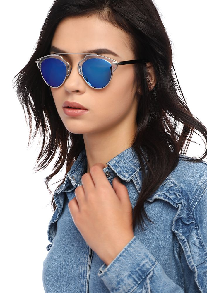 ONLY FOR YOU BLUE AVIATORS