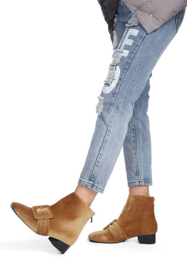 CITY VIBES BROWN ANKLE BOOTS