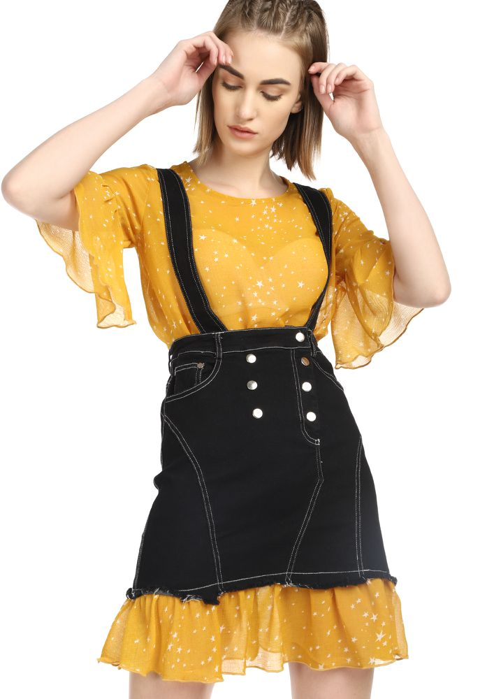 AWESOME TWOSOME YELLOW BLACK TWO PIECE SET