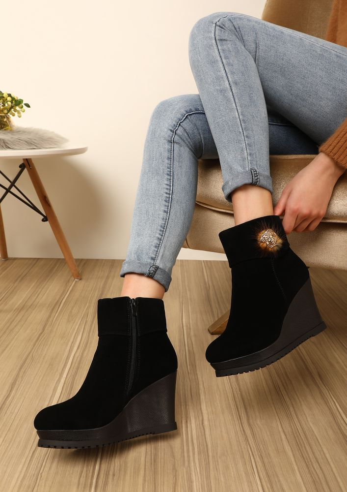 NEW HEIGHTS BLACK ANKLE BOOTS