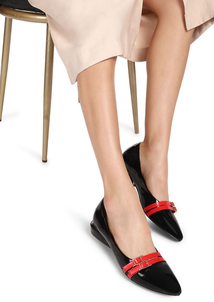 IT'S UPTO YOU BLACK BALLET FLATS