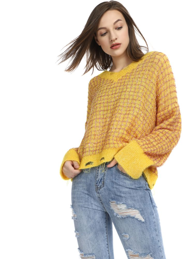 SQUARES BY SQUARES YELLOW JUMPER